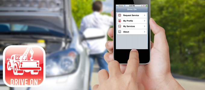 Encore Protection's Mobile App for Emergency Roadside Assistance Service