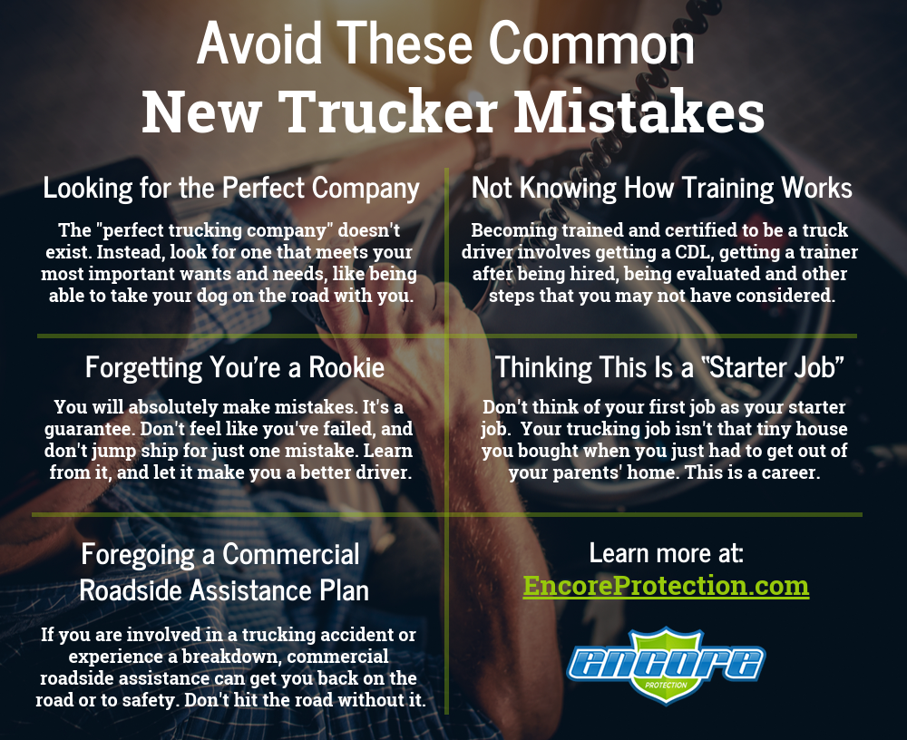 Avoid These Common New Trucker Mistakes infographic