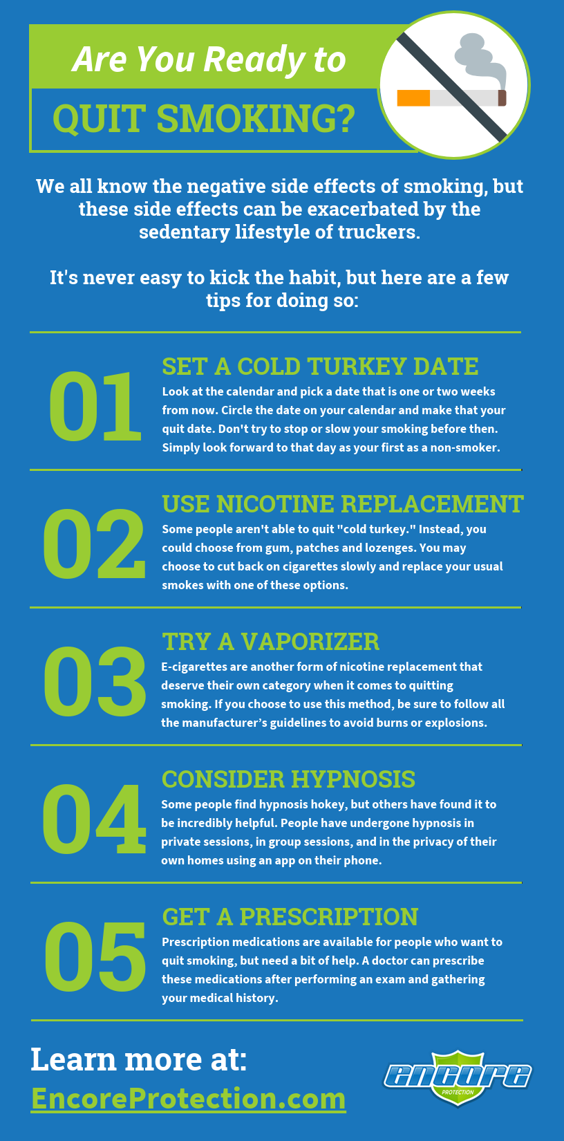 Are you ready to quit smoking infographic