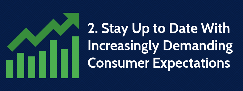 2. Stay Up to Date With Increasingly Demanding Consumer Expectations